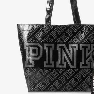 NWT Victoria's Secret PINK Black Reusable Tote Bag
